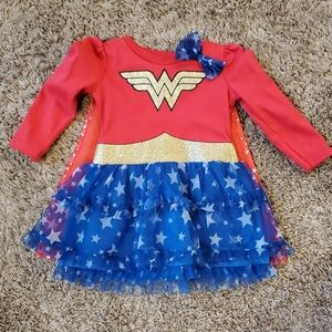 2T Wonder Woman costume dress with cape